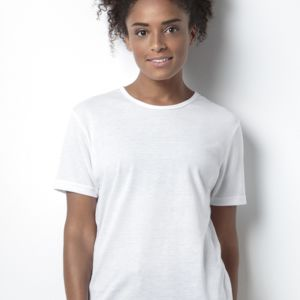 Women's Short Sleeve Subli Plus Round Neck T-Shirt Thumbnail